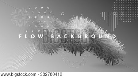 Color Wave Abstract. 3d Graphic Movement. Vibrant Wallpaper. Vector Bright Wave Abstract. Creative F