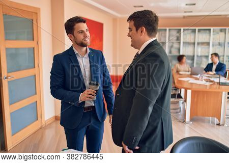 Business lawyers workers meeting at law firm office. Professional executive partners working on finance strategry at the workplace
