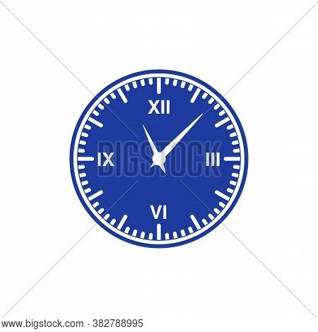 The Clock Icon With A Blue Dial.