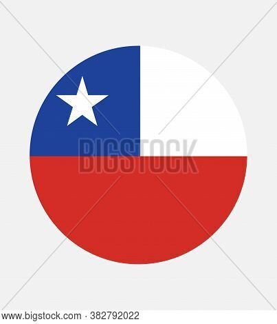National Chile Flag Official Colors And Proportion Correctly. National Chile Flag