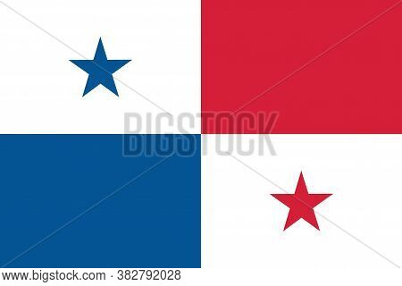 National Panama Flag Official Colors And Proportion Correctly. National Panama Flag