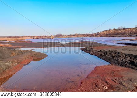 Technical Settler Of Industrial Water Of Mining Industry In Kryvyi Rih, Ukraine. Red Water Polluted