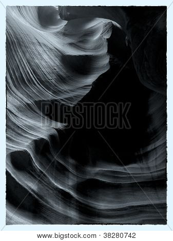sepia image of canyon antelope
