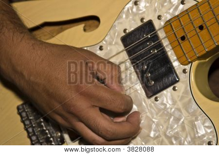 Closeup Of Country Guitar