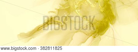 Pastel Splash. Sketch Image. Transparent Background.  Green Pastel Splash. Alcohol Ink Drawing. Tran