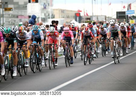 S.maria Di Sala, Ve, Italy - May 30, 2019: Tour Of Italy Also Called Giro D'italia Is A Famous Cycli