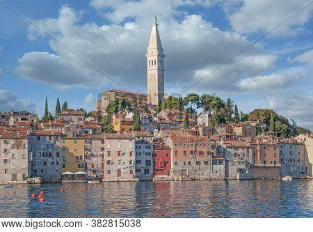Old Town Of Rovinj At Adriatic Sea In Istria,croatia