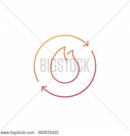 Metabolism, Metabolic Process Line Icon, Eps 10 File, Easy To Edit