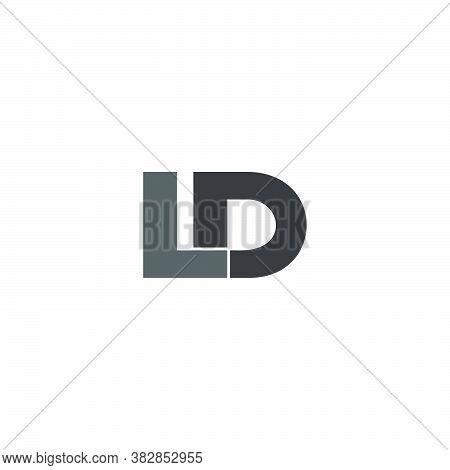 Letter Ld Simple Geometric Linked Logo Vector