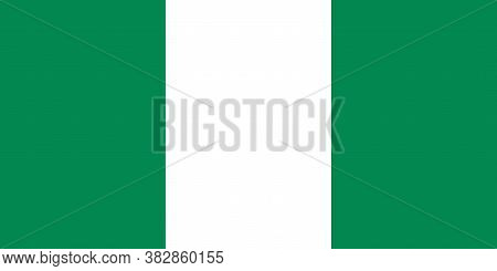 National Nigeria Flag, Official Colors And Proportion Correctly. National Nigeria Flag.