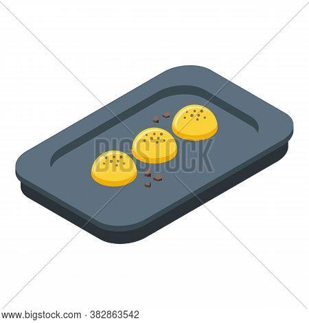 Dinner Molecular Cuisine Icon. Isometric Of Dinner Molecular Cuisine Vector Icon For Web Design Isol