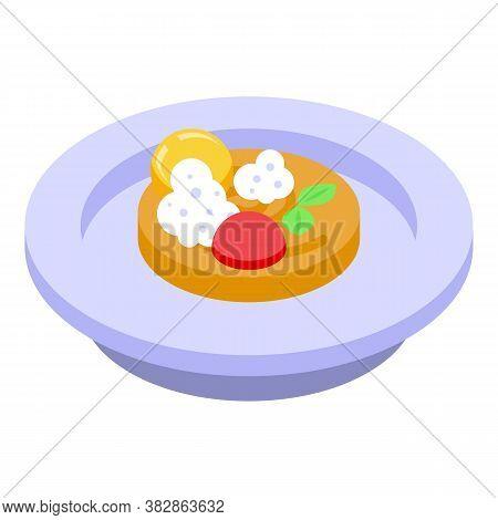 Exclusive Molecular Cuisine Icon. Isometric Of Exclusive Molecular Cuisine Vector Icon For Web Desig