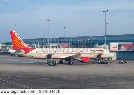Colombo, Sri Lanka - February 24, 2020: Airbus A321-211 (vt-ppk) Of Air India On The Bandaranaike Ai
