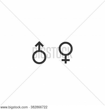 Black Female And Female Gender Sign. Woman, Lady Symbol.