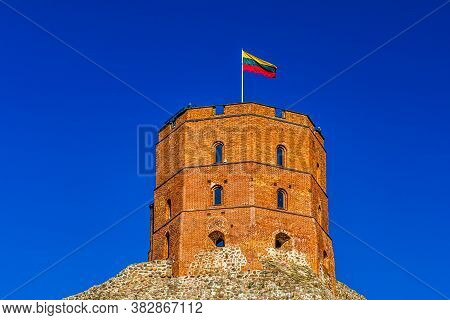 Beautiful View To Gediminas Castle Tower. Lithuania