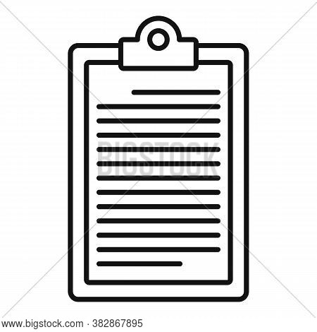 Conclusion Clipboard Icon. Outline Conclusion Clipboard Vector Icon For Web Design Isolated On White