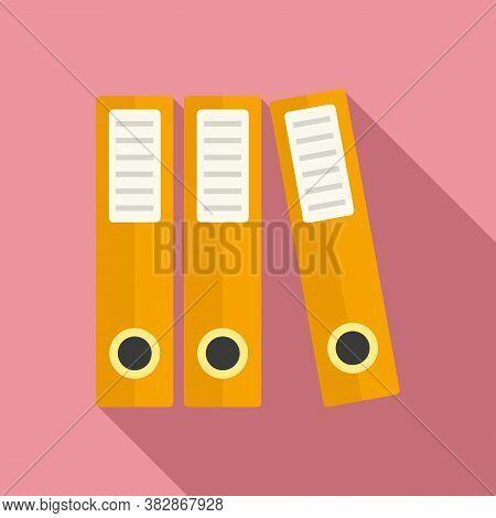 Audit Folder Icon. Flat Illustration Of Audit Folder Vector Icon For Web Design