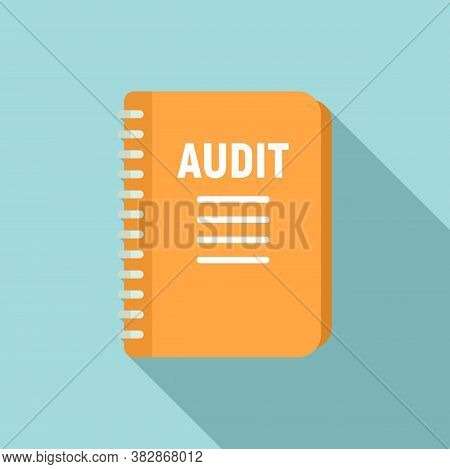 Audit Notebook Icon. Flat Illustration Of Audit Notebook Vector Icon For Web Design