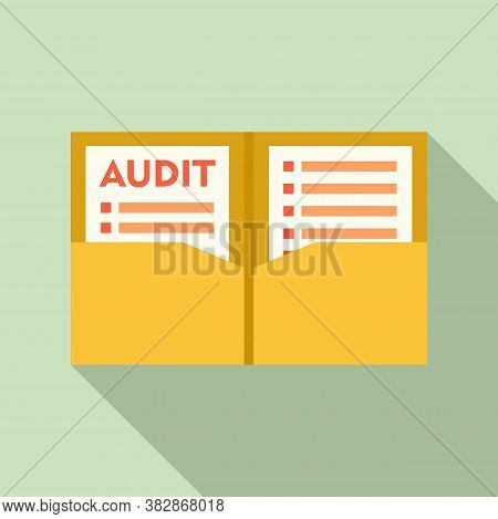 Audit Documents Icon. Flat Illustration Of Audit Documents Vector Icon For Web Design