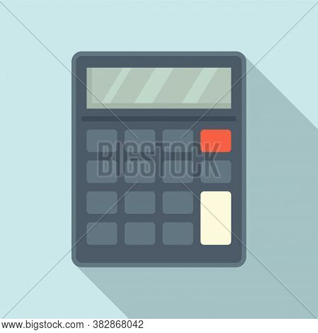 Audit Calculator Icon. Flat Illustration Of Audit Calculator Vector Icon For Web Design