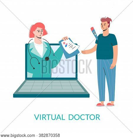 Virtual Doctor. Get Sick Leave Online Using Your Laptop. . Mobile Consultation, Competent Medical As
