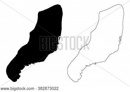 Brazzaville City (republic Of The Congo, Congo-brazzaville, Congo Republic) Map Vector Illustration,