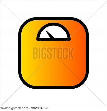 Floor Weight Scale Icon. Weight Scale Medicine Vector. Weight Measurement Icon. Weight Scale Templat