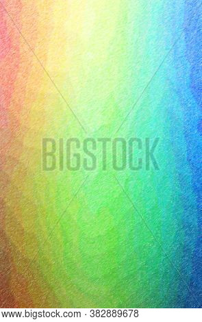 Abstract Illustration Of Blue, Green, Pink, Red, Yellow Color Pencil High Coverage Background.
