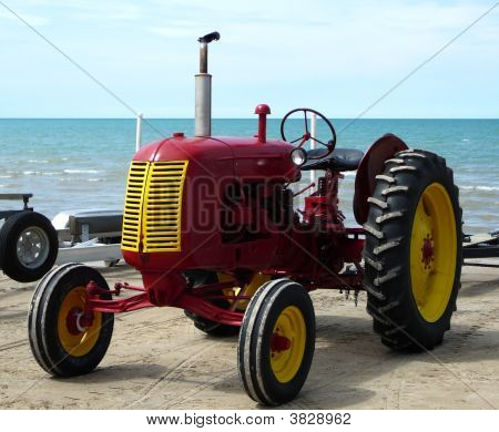 Old Tractor At The Beach