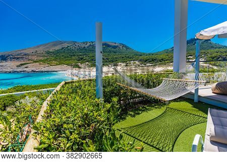 Beautiful sandy beach of Cala Mesquida, Mallorca, Mediterranean Sea, Balearic islands, Spain