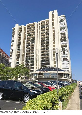 Ocean City, Md: The Irene Oceanfront Condominium Building Located On 111th Street And Coastal Highwa