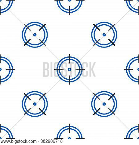 Line Target Sport For Shooting Competition Icon Isolated Seamless Pattern On White Background. Clean