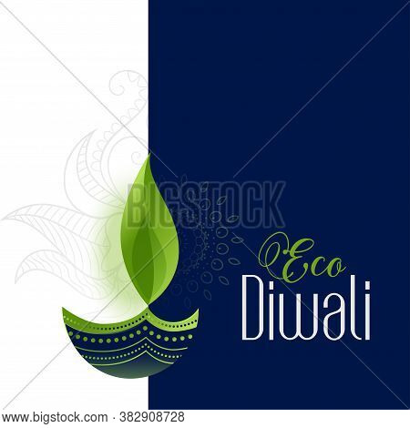 Happy Eco And Safe Diwali Concept Background Design