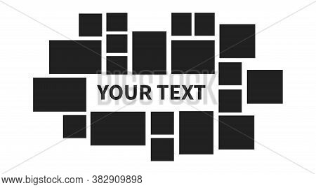 Collage Photo Frame Template. Vector Photo Collection With Yout Text.
