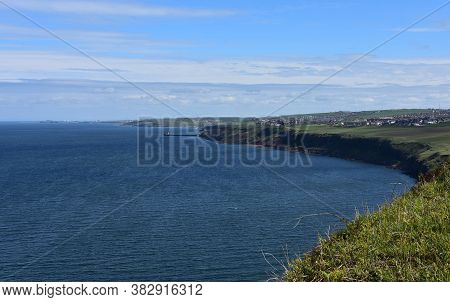 A View Of Whitehaven From St Bees On The Coastal Walk.