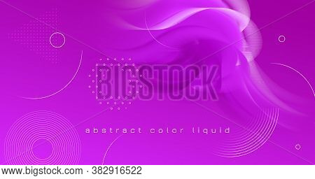 3d Movement. Fluid Shapes. Pink Abstract Template. Vector Creative Cover. Vibrant Motion. 3d Movemen