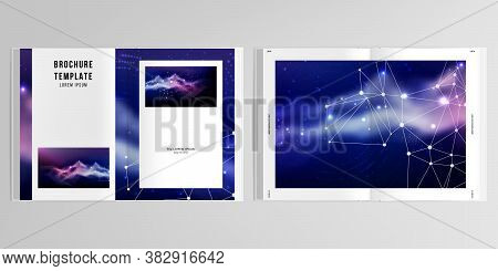 3d Realistic Vector Layout Of Cover Mockup Templates For A4 Bifold Brochure, Flyer, Cover Design, Bo