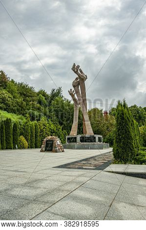 Kaliningrad, Russia - July 21, 2019: Holocaust Memorial In The Town Of Yantarny (palmnicken) Where F