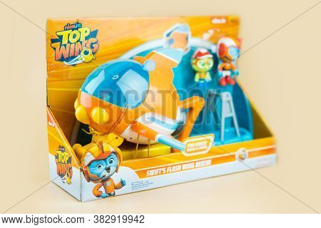 Samut Prakan, Thailand - August 29, 2020 : Cute Toy Of Top Wing Swift's Flash Wing Rescue In Set Sui