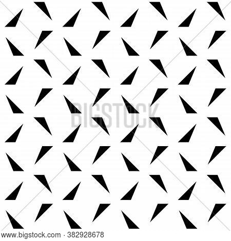 Seamless Surface Pattern Design With Modern Ornament. Triangles Background. Image With Repeated Tria