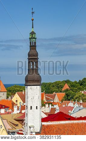Old Town Of Tallinn Is Famous By Its Medieval Architecture
