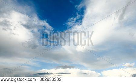 Amazing Dramatic Sky. Cloudy Weather Turning Rainy. Cumulonimbus In Atmosphere.