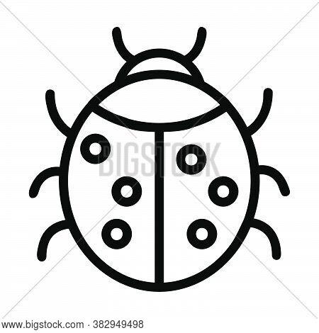 Logo Or Symbol Of Ladybug Icon With Black Line Style