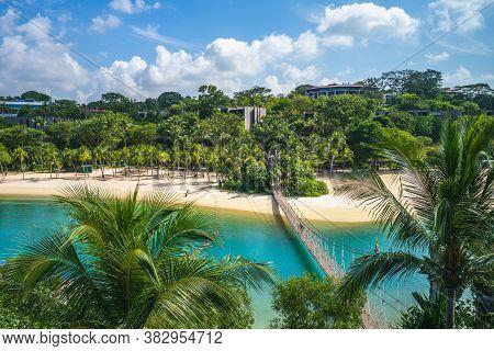Pulau Palawan Beach At Sentosa In Singapore