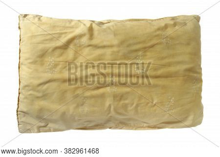 Dirty Old Pillow (with Clipping Path) Isolated On White Background