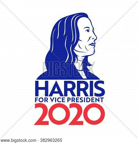 Aug 30, 2020, Auckland, New Zealand: Illustration Of American Senator And Vice President Candidate,