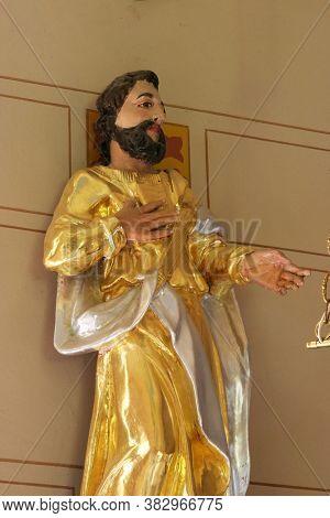 SVETI IVAN ZABNO, CROATIA - JUNE 26, 2013: Statue of saint in St. John the Baptist Church in Sveti Ivan Zabno, Croatia
