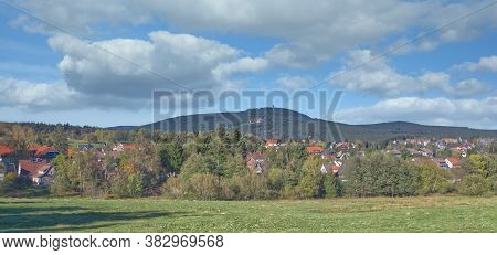 Village Of Braunlage In Harz Mountain,lower Saxony,germany