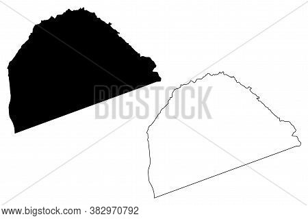 St. Lucy (barbados, Parishes Of Barbados) Map Vector Illustration, Scribble Sketch Parish Of Saint L