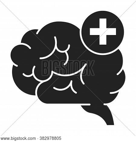 Improving Brain Activity Black Glyph Icon. Exercising The Brain To Improve Memory, Focus, Or Daily F
